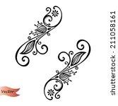 vector deco abstract elements....   Shutterstock .eps vector #211058161