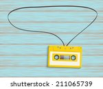 speech bubble  cassette say on... | Shutterstock .eps vector #211065739