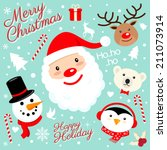 christmas icon | Shutterstock .eps vector #211073914