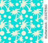seamless pattern with tropical... | Shutterstock . vector #211075561
