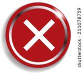delete remove button | Shutterstock .eps vector #211078759
