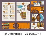 coffee concept design.... | Shutterstock .eps vector #211081744