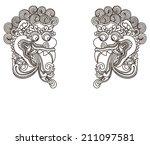mythological ethnic gods ... | Shutterstock .eps vector #211097581
