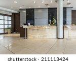 modern reception area | Shutterstock . vector #211113424