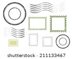 set of postal stamps and... | Shutterstock .eps vector #211133467