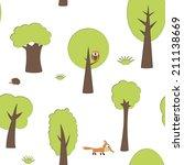 forest seamless vector pattern | Shutterstock .eps vector #211138669