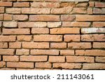 old red brick wall texture... | Shutterstock . vector #211143061