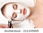 young beautiful woman with...   Shutterstock . vector #211145005