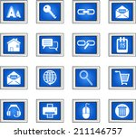 web and internet icons set  | Shutterstock .eps vector #211146757