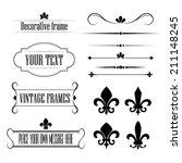 set of calligraphic flourish... | Shutterstock .eps vector #211148245