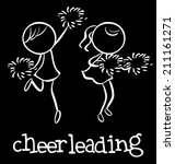 active,activity,athlete,cartoon,cheerful,cheerleaders,cheerleading,cheers,clipart,competition,dancing,doodles,drawing,enjoyment,entertainers