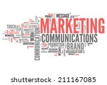 word cloud with marketing... | Shutterstock . vector #211167085