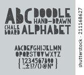 hand draw doodle abc  alphabet... | Shutterstock .eps vector #211168627