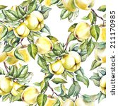 pattern apples | Shutterstock . vector #211170985