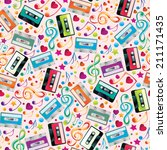 music seamless pattern | Shutterstock .eps vector #211171435
