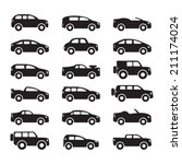 car icons set | Shutterstock .eps vector #211174024