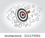 target illustration with doodle | Shutterstock . vector #211174501