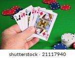 poker hand full house queens... | Shutterstock . vector #21117940