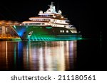 Luxury Yacht Moored In The...