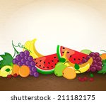 background with fruits | Shutterstock .eps vector #211182175