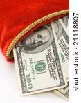 Christmas Stocking And Dollars...