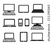electronic devices | Shutterstock .eps vector #211190365