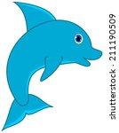 a blue dolphin | Shutterstock .eps vector #211190509
