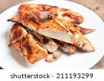 grilled chicken  style thai... | Shutterstock . vector #211193299