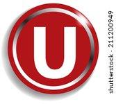 white alphabet on red background | Shutterstock .eps vector #211200949