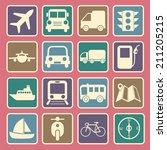 transport icon | Shutterstock .eps vector #211205215