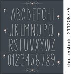 handwritten font  hand drawn... | Shutterstock .eps vector #211208779