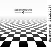 checkered perspective... | Shutterstock .eps vector #211211254