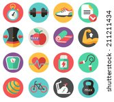 fitness icons | Shutterstock .eps vector #211211434