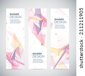 vector vertical banners set... | Shutterstock .eps vector #211211905