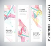 vector vertical banners set... | Shutterstock .eps vector #211211911