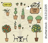 Set Of Hand Drawn Garden Stuff...