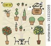 Set Of Hand Drawn Garden Stuff...