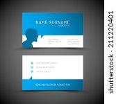 modern simple blue business... | Shutterstock .eps vector #211220401