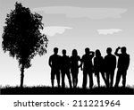 group of people | Shutterstock .eps vector #211221964