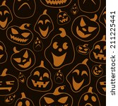halloween pattern with pattern | Shutterstock .eps vector #211225441