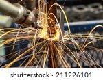 industrial welding automotive... | Shutterstock . vector #211226101