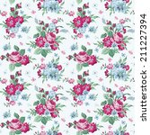 vintage floral background  ... | Shutterstock .eps vector #211227394