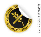 vector white bent sticker with...   Shutterstock .eps vector #211228399