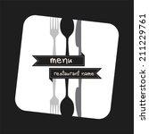 restaurant menu | Shutterstock .eps vector #211229761