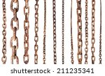 Set Of Old Rusty Chains...