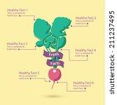 healthy vegetable infographic... | Shutterstock .eps vector #211237495