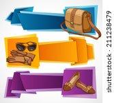 woman fashion stylish casual... | Shutterstock .eps vector #211238479