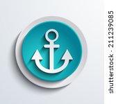 modern blue circle icon. web...