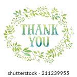 words thank you in simple and...   Shutterstock .eps vector #211239955