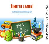 realistic back to school rime... | Shutterstock .eps vector #211240261